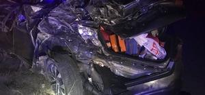 Otomobille cip çarpıştı: 1 ölü, 10 yaralı