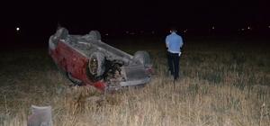 Köpekten kaçan sürücü otomobille takla attı: 2 yaralı