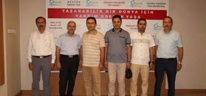 Malatya'dan gelen heyet Gıda Bankası'nı gezdi