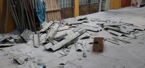 """Bolu'da, 3 dakika süren hortum çatıları yerinden söktü Pazar esnafı Hayriye Çakır: """"Deprem oluyor zannettim"""""""