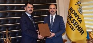 Çevre ve Şehircilik Bakanı Kurum ile Sağlık Bakanı Koca Başkan Altay'ı ziyaret etti