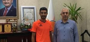 Mardinli milli atlet AK Parti Mardin İl Başkanı Nihat Eri ile görüştü