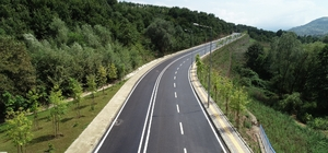 Fay hattı yolu yenilendi
