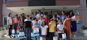 Yaz kampına katılan öğrenciler Aydın'a geldi