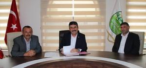 Gerede'nin yeni spor tesisinde imzalar  atıldı