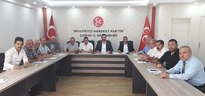 """MHP İlçe Başkanları Toplantısı MHP Çorum İl Başkanı Arslan Kaynar: """"Parti olarak hükümetin ve devletin sonuna kadar yanında durduğumuz ve duracağımız herkesçe bilinmelidir"""""""