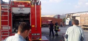Elektrik kontağından çıkan yangın iş yerini kullanılamaz hale getirdi Yangına uykuda yakalandı son anda dışarı çıktı