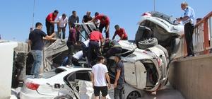 Freni boşalan tır dehşet saçtı Şanlıurfa'da freni boşalan tır, çok sayıda aracı önüne katarak sürükledi