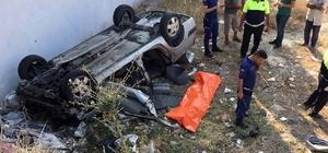 Otomobil önce yayaya sonra evin duvarına çarparak devrildi Mersin'de trafik kazası: 1 ölü, 4 yaralı