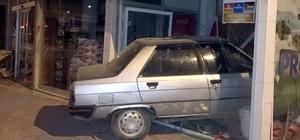 Otomobil iş yerine girdi: 1 yaralı
