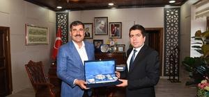 Adalet Komisyonu Başkanı Ercan'dan Başkan Asya'ya veda ziyareti