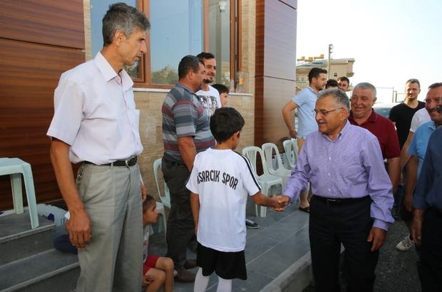 Başkan Büyükkılıç Hisarcık Sosyal Spor Tesislerinde