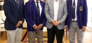 Başkan Sekmen, Osmanlı Kriket Kulübü Başkanı Salıe'yi ağırladı