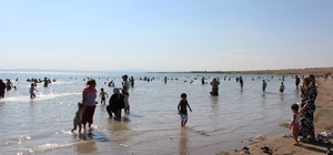 Kırşehir'de hafta sonu Savcılı plajına akın