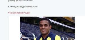 Nevşehir Belediyespor, Vederson transferini yalanladı
