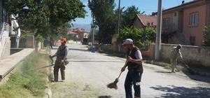 Bolvadin'de dip köşe temizlik çalışmaları devam ediyor