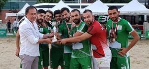 Plaj futbolunda şampiyon Tepebaşı Belediye Spor Plaj futbol turnuvası sona erdi