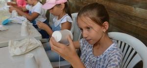 Bozbey Doğa ve Bilim Yaz Okulu'nda çocuklarla buluştu
