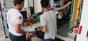 Samsun'da inşaattan düşen işçi ağır yaralandı