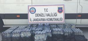 Jandarma 217 şişe kaçak alkol ele geçirdi