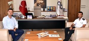 Başkan Sarıkurt, Komutan Özbay'a çalışmaları anlattı