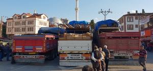 Kastamonu'dan 8 tır dolusu kurbanlık, İstanbul'a gönderildi