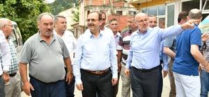 """Başkan Şahin: """"Beton yolda atağa geçtik"""" Samsun'dan Ordu sınırına kadar beton yol çalışması"""