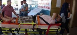Otomobil ile motosiklet çarpıştı, abi kardeş yaralandı