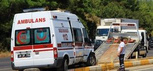 Hasta taşıyan ambulans kaza yaptı Muğla'da hasta taşıyan ambulans ile özel otonun karıştığı kazada 4 kişi yaralandı.