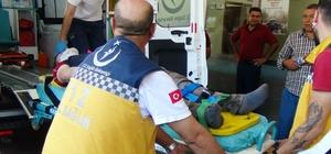 İş makinesinden düşen işçi yaralandı