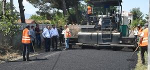 Yazısöğüt köy yolunu asfaltlandı