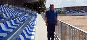 Ergene Velimeşe Stadyumu'nun tribünleri yenilendi