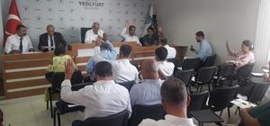 Yeşilyurt Belediye Meclisi ağustos ayı toplantısı