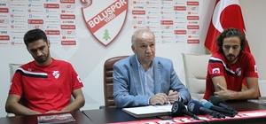 """Boluspor, 2 oyuncuya daha imza attırdı Boluspor Kulüp Başkanı Necip Çarıkcı: """"Biz santraforsuz da maç kazanmayı biliriz"""""""