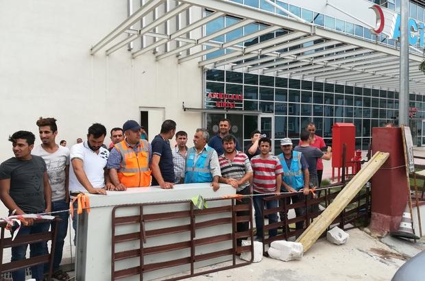 Paralarını alamayan hastane işçileri grevde Gebze'de hastane inşaatında çalışan işçiler işi bıraktı
