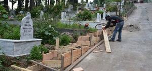 Gülüç'te mezarlıklar bakımdan geçiriliyor