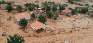 Elmalı'da ikinci sel Hayvanlar telef oldu, evler su altında kaldı
