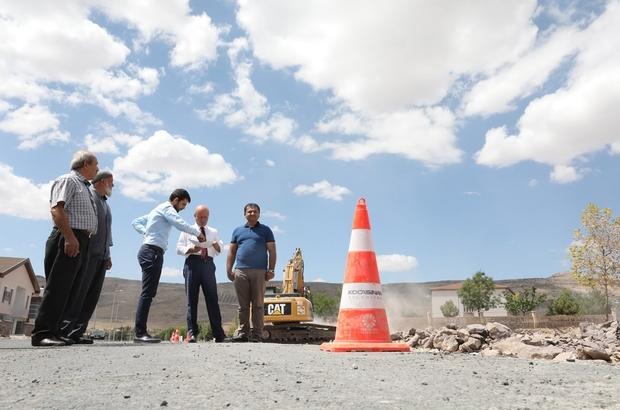 Kocasinan'da yol yapım çalışmaları devam ediyor