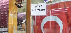 Mardin esnafı Türk Lirasına sahip çıktı Esnaftan ABD'ye dolar protestosu