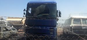 Gaziantep'te yediemin otoparkında yangın Yaklaşık 20 araç yandı
