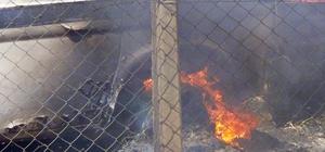 Yediemin otoparkındaki yangın 1 saatte kontrol altına alındı Alevlerin otoparkın yanındaki tarladan sıçradığı öğrenildi
