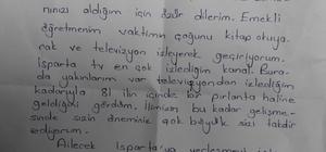 İzmir'deki emekli öğretmenden Belediye Başkanı Günaydın'a duygulandıran mektup