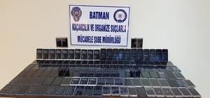 Batman'da 135 adet kaçak akıllı telefon ele geçirildi