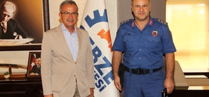 İl Başkanı ve  Jandarma Komutanı Başkan Köşker'in konuğu