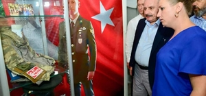 Milletvekili Şentop'tan şehit İşcan'ın ailesine ziyaret