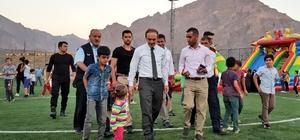 Başkan Vekili Epcim, şişme oyun parkını ziyaret etti