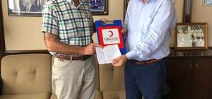 'Altın Madalyalı' bağışçıdan Kızılay'a destek