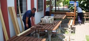 Kartepe Park Camii oturma grupları yenilendi