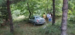 Kontrolden çıkan otomobil ormanlık alana uçtu: 1 yaralı