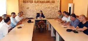 Pertek'te eğitim öğretime hazırlık toplantısı